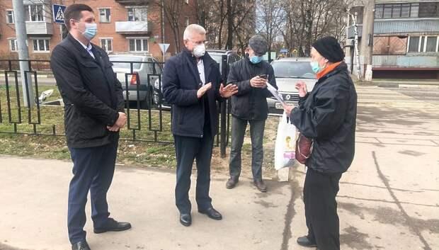 Максимович обсудил с подольчанами благоустройство Ивановского лесопарка