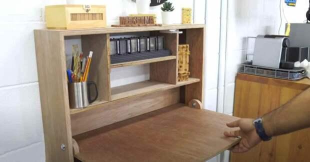 Шкафчик-трансформер с откидным столиком — занимает мало места и дешевле обычной мебели