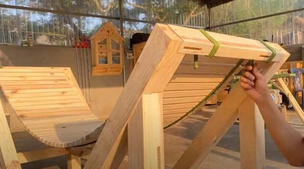 Как сделать гамак и деревянную подставку для него