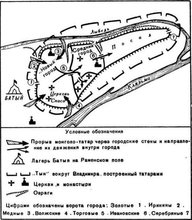 Как войска Батыя штурмовали Владимир
