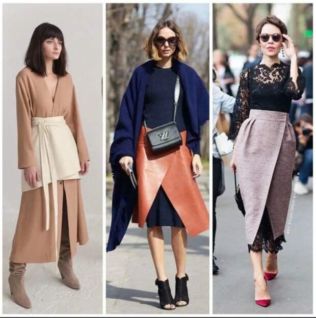 Новый тренд - юбка поверх платья. \ Фото: yandex.net.