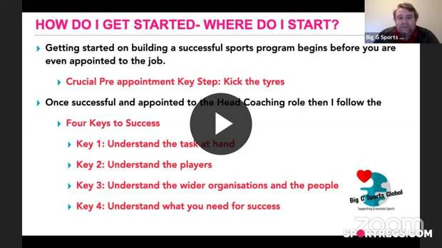 How to build a successful Sports Program- Part 1