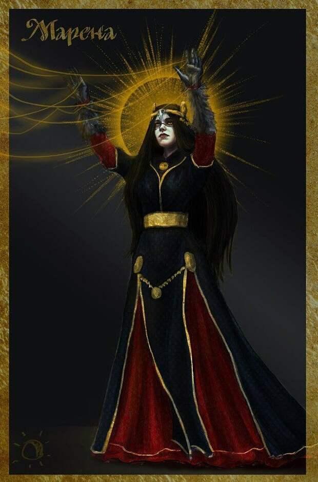 Лики славянских богов. Мара-Морена
