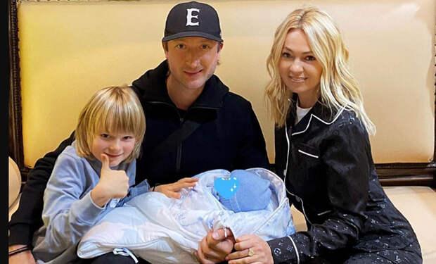 У Яны Рудковской и Евгения Плющенко родился второй общий ребенок