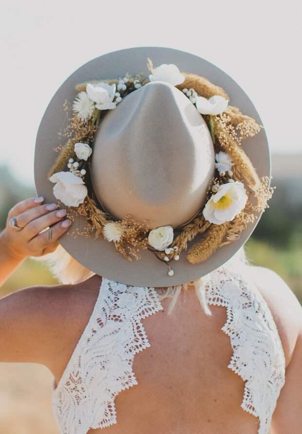 шляпа с цветами своими руками для свадьбы