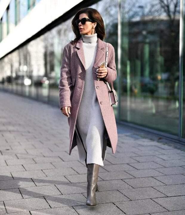 Стильный образ с платьем. /Фото: moddam.ru