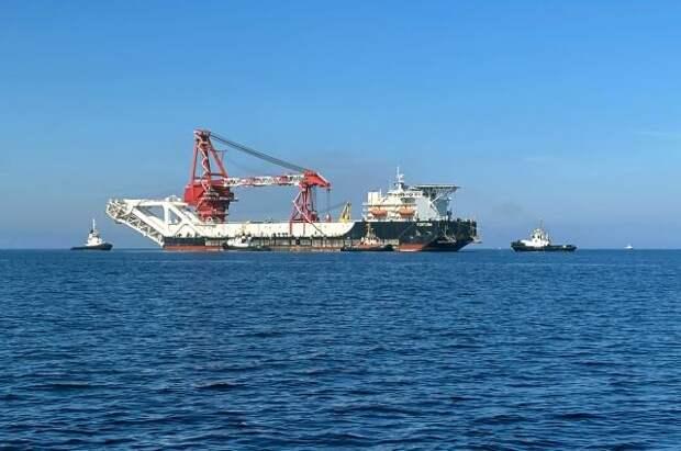 Судно «Фортуна» продолжило работы по проекту СП-2 в водах Германии