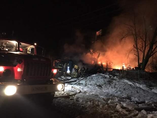 4 человека погибли во время ночного пожара в Глазовском районе Удмуртии