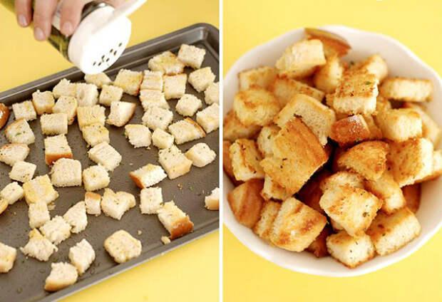 как готовить крутоны
