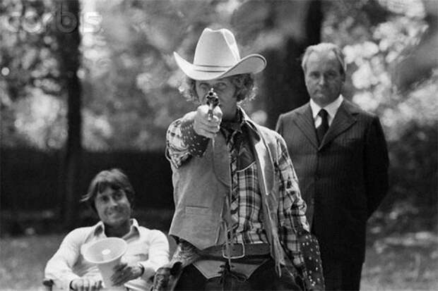 "Франсис Вебер и Пьер Ришар на съемках фильма ""Игрушка"", 1976 год"