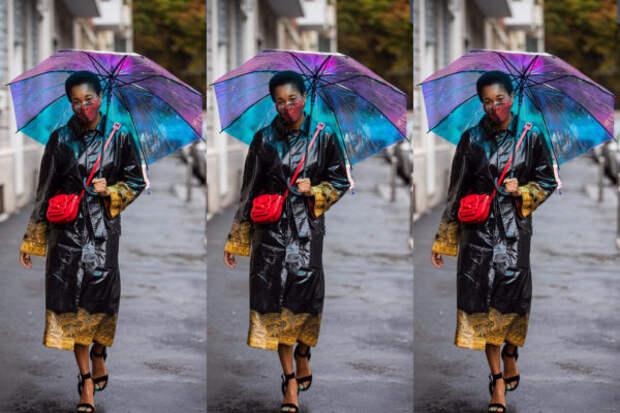 Яркий зонт – идеальный способ выделиться из толпы...