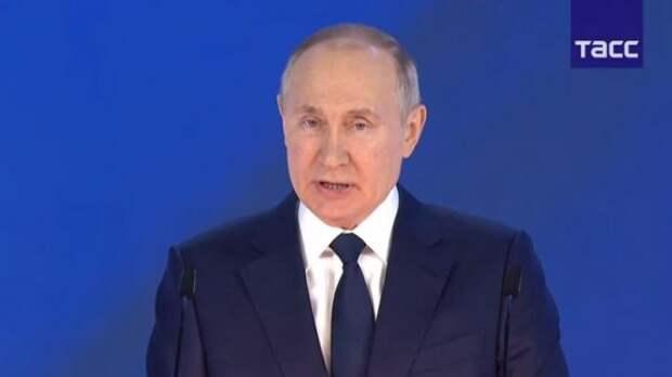 Путин: Сбережение народа России— высший приоритет