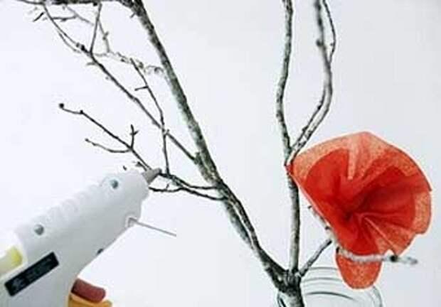 цветущая ветка своими руками для украшения дома