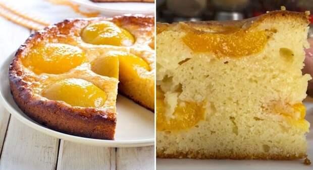 Пирог с абрикосами на кефире. Пеку его на даче по рецепту цыганки Галины 2