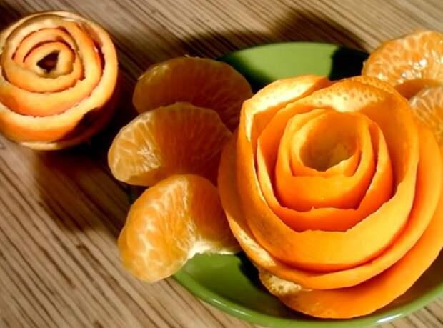 Апельсиновую кожуру не выкидываю, а делаю из нее прекрасное украшение для дома