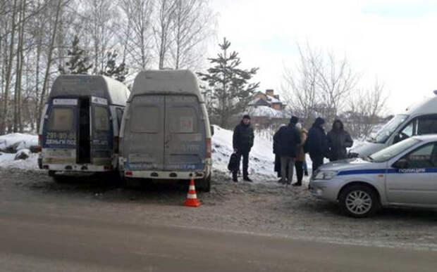 Две маршрутки столкнулись в Новосибирске. Есть жертвы
