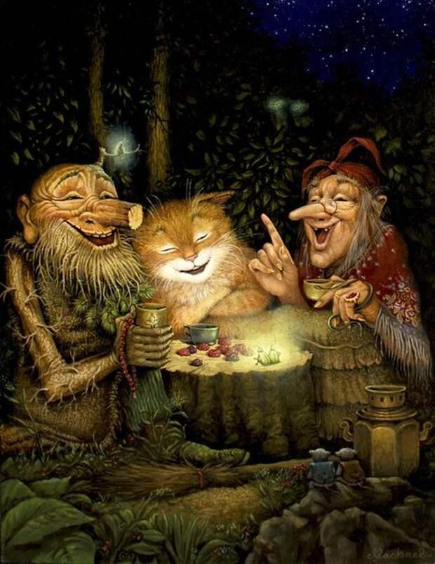 Жители сказочного леса в серии «Картин от печки».