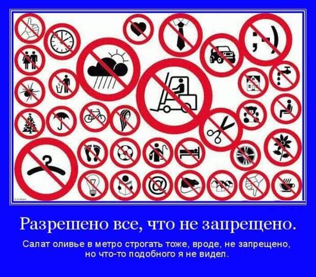 Разрешено все, что не запрещено