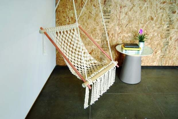 Макраме: кресло-гамак своими руками (мастер-класс)