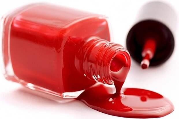 Как удалить следы косметики с одежды: помада лак краска
