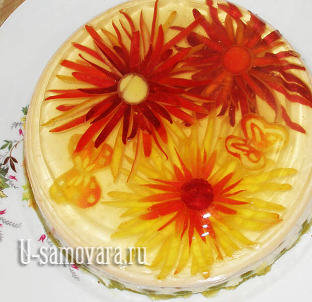 Торт-желе из фруктов