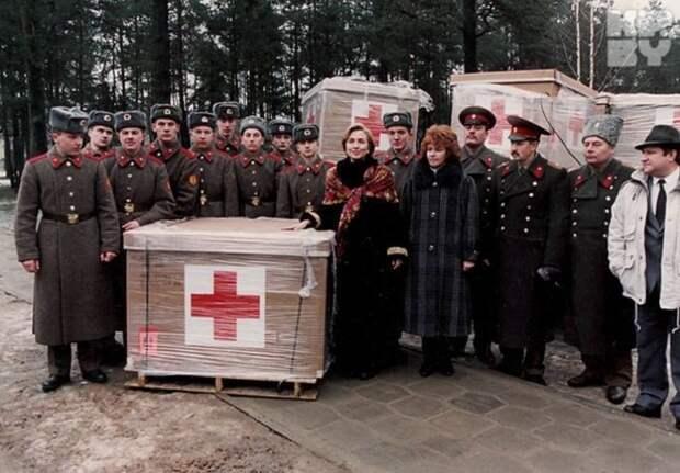 Хиллари Клинтон, белорусские военные и гуманитарная помощь СССР, прошлое, фото