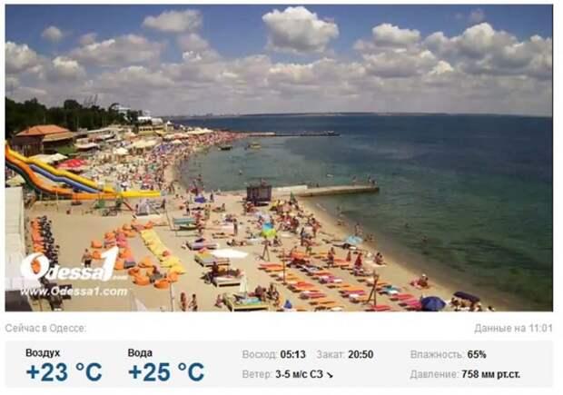 Батл «пустующих» пляжей Крыма и Одессы. Кто победил? (фото, скриншоты)