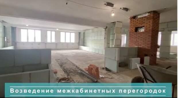 В поликлинике на 1-й Вольской начали установку новой вентиляционной системы