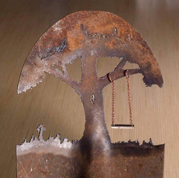 Дело мастера боится... Превращение лопаты в арт-объект
