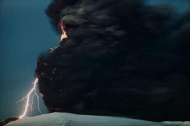 Эйяфьятлайокудль, Исландия.
