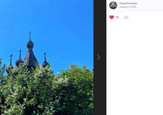 Фото дня: храм Георгия Победоносца в цвету