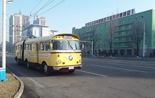Троллейбус, в котором однажды проехал Ким Ир Сен, 50 лет ездит, не потребляя электричество авто, история, факты, юмор