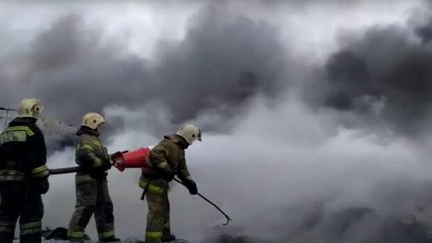 Площадь пожара на пилораме в Екатеринбурге увеличилась до 2000 «квадратов»