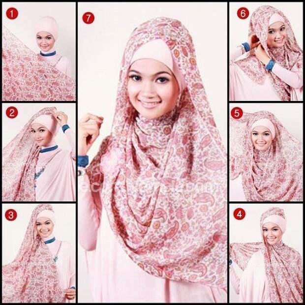 Как красиво завязать хиджаб - подборка фотоМК
