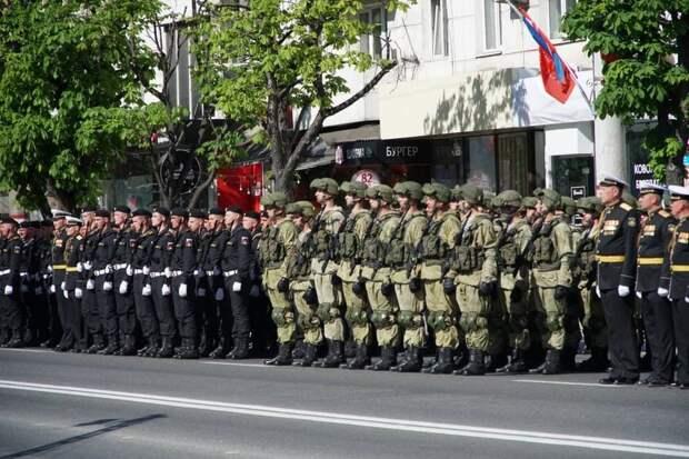 Как в Симферополе проходила генеральная репетиция Парада Победы