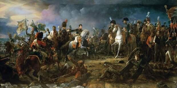 Битва при Аустерлице: бой в центре и на правом фланге армии союзников