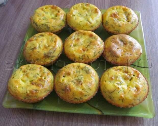 Кексы из плавленных сырков - отличный вариант для завтрака