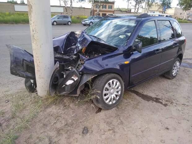 Водитель без прав устроил ДТП в Ижевске: травмы получили два человека