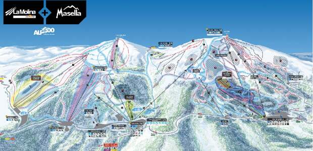 Ski resorts of Spain: Masella and la Molina