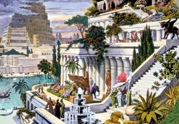 Для того, чтобы изобразить древние висячие сады, нужна, по сути, лишь фантазия - информации о них у историков почти нет