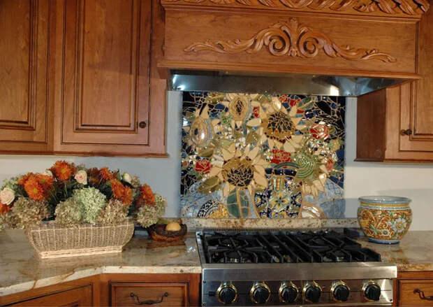 Несколько отличных идей красивой мозаики для кухни