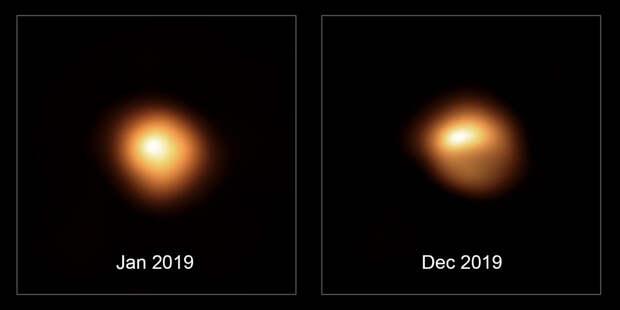 Астрономы рассмотрели потускневшую Бетельгейзе
