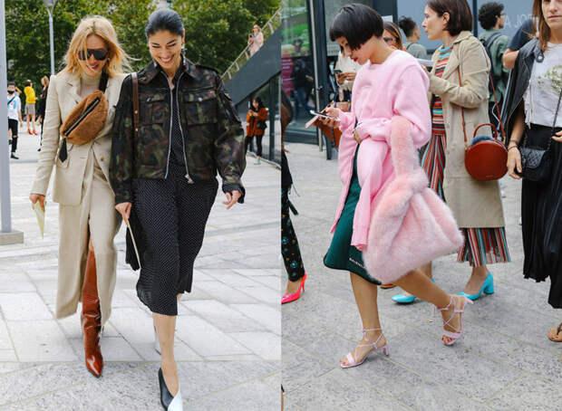 Девушки с модными меховыми сумочками