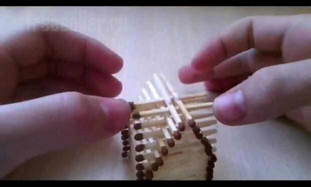 Как сделать домик из спичек своими руками