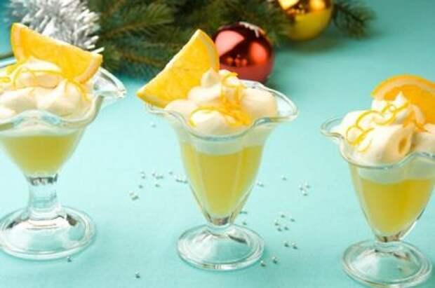 Десерт из маскарпоне с апельсиновым желе