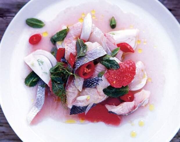 Рыба под маринадом рецепт севиче  — Рецепты Джейми Оливера