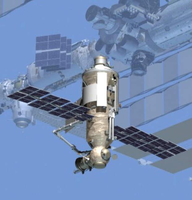 Модуль «Наука» в составе МКС. Графика