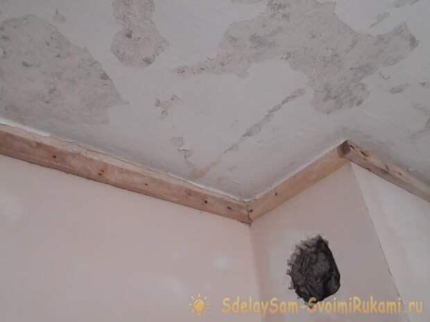 Пластиковый потолок своими руками
