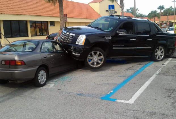 Дедовщина на парковке.