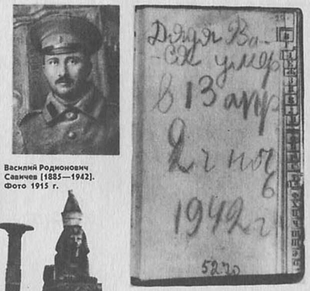 Блокадная хроника Тани Савичевой
